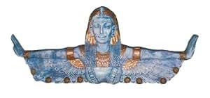 ägypterin con ausgestreckten Brazos piedra con oro verkleinert 50cm para exterior de polirresina