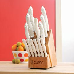 CUTCO Model 2008W Galley +6 White (Pearl) Table Knives Set: 7 High