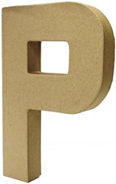 Country Love Crafts 8.25-inch// 20.5cm 3D Letter E Papier Mache
