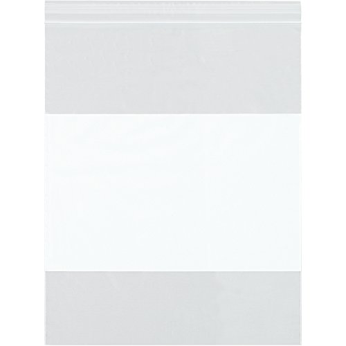 Boxes Fast BFPB3984 White Block Recloseable 4 Mil Poly Bags, 3