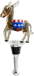 LSArts Wine Bottle Stopper, Democrat Donkey