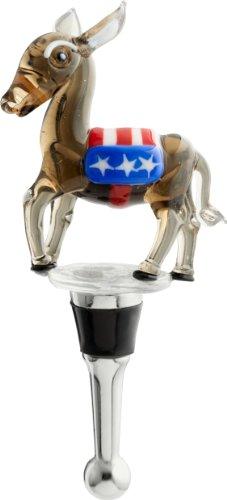 LSArts Wine Bottle Stopper, Democrat Donkey -