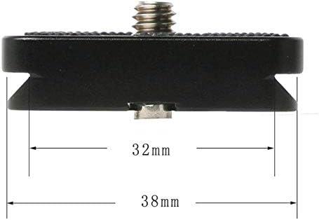 UNC1//4 Screw PU-40 Aluminum Camera Quick Release Plate for Swiss Ball Head