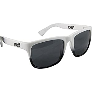 Neff Mens Sunglasses Chip White Black, One Size