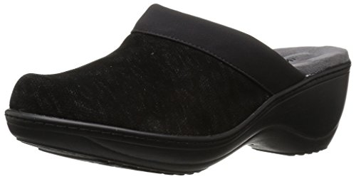 SoftWalk Women's Murietta Mule, Black Leopard, 7.5 M US