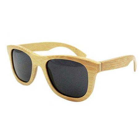 HBF Gafas De Sol Hombre Polarizadas UV400 Gafas De Sol Bambu Mujer Con Estuche De Las Gafas