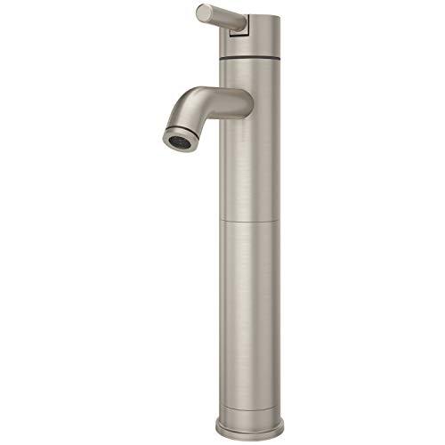(Pfister LG40NK00 Contempra Single Control Vessel Bathroom Faucet in Brushed Nickel)