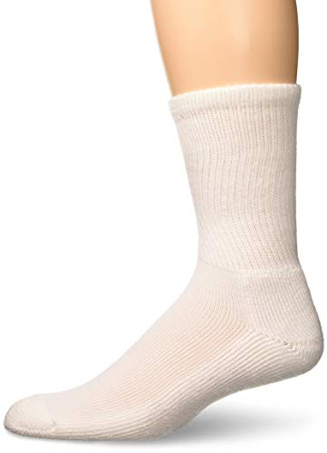 Thorlos Unisex GX Golf Padded Crew Sock, White, Large