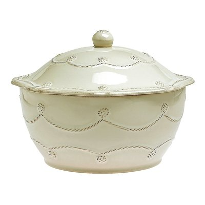 Juliska Berry and Thread Large Round Covered Casserole, White by Juliska