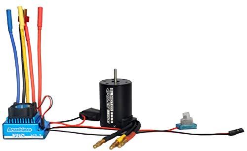 Hooshion BL3650 3900KV Brushless Motor Sensorless with 120A ESC Brushless Waterproof Electronic Speed Controller Set for 1/10 RC Car ()