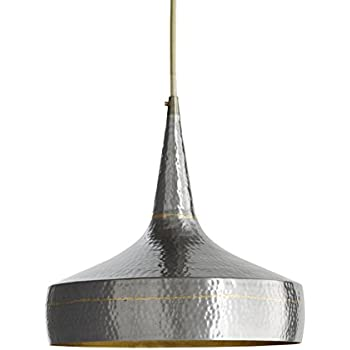 Arteriors 42414 Mason Wide Hammered Iron Pendant, Dark