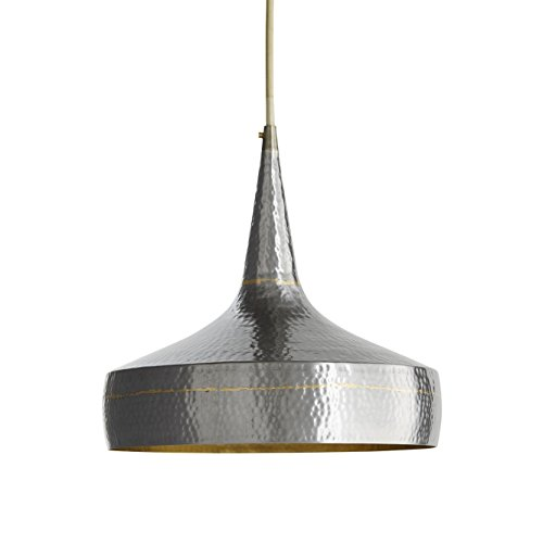 Hammered Brass Pendant Light in US - 3