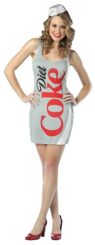 Cocacola Costumes Adult (Rasta Imposta Diet Coke Tank Dress, Silver, Adult)