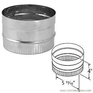 DuraVent 6DBK-ADSS 6'' Inner Diameter - DuraBlack Stove Pipe - Single Wall - Stov, Stainless Steel