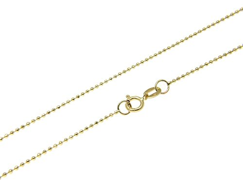 1mm thick 14k gold plated sterling silver 925 Italian diamond cut BALL bead chain necklace bracelet anklet - 6