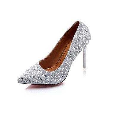 UK4 Pu 4 Pulg 5 Casual Mujeres Plata Oro Stiletto EU37 De RTRY Office amp;Amp; Traje 7 Zapatos Profesional De Caminar Formales Tacones 3A Strass Negro 3 3 Talón CN37 Caída 5 5 US6 gSxqwYC