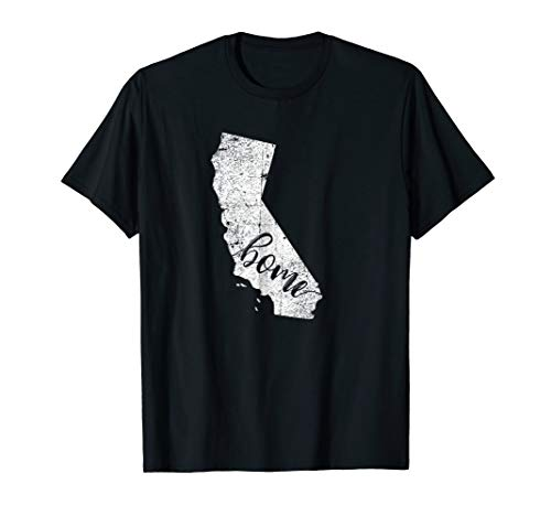 (California Retro Vintage Home State Map Outline T-Shirt gift)
