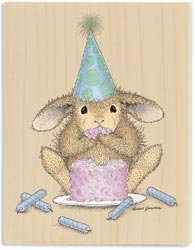 Stampabilities House Mouse Wood Mounted Rubber Stamp: It's My Party Stampabilities House Mouse