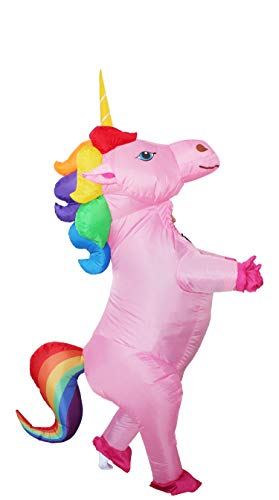 GOPRIME Sale Now !! Unicorn Costume Horn Horse Inflatable Suit (Rainbow Medium) ()