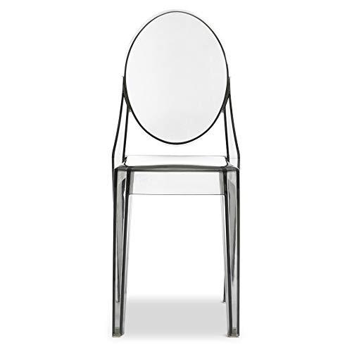 Jeco - Juego de 2 sillones de plástico Transparente: Amazon ...