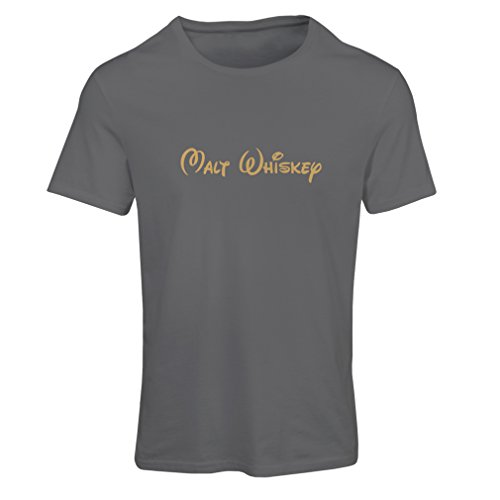 T Shirts For Women Malt Whiskey - Funny Drinking Quotes, Cool Alcohol Sayings (Large Graphite Gold)