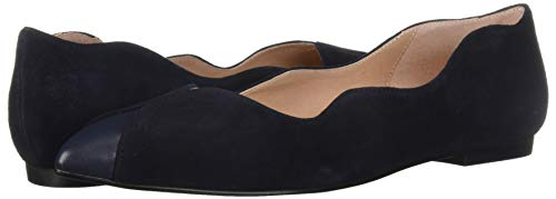 Sole Suede French Flats (French Sole FS/NY Women's Coop Ballet Flat, NVY Empire, 8.5 M US)