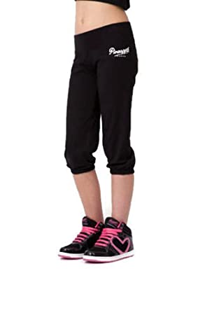 903cbee8c424b0 Pineapple Dancewear Girls Dancers Crop Pants Black with logo (Age 7-8 years)