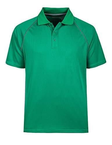 Men's Classic Polo Shirt Dri-Mesh Moisture Wicking Golf Shirts Regular-Fit Green XL