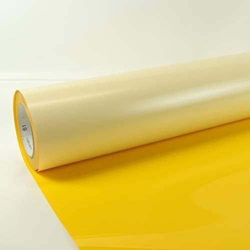 1m x 0,5m Poli-Flex Premium Lámina Flexfolie Hierro-en la película Poli-flex + Gratis Folindo Etiqueta - 418 Medium Amarillo, 1m x 0,5m: Amazon.es: Hogar