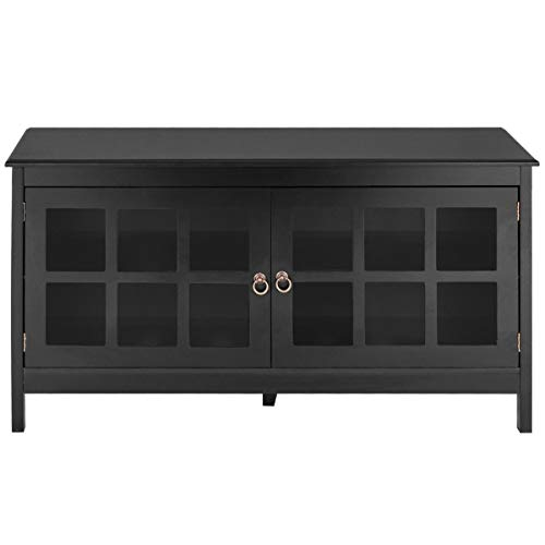 """BESTChoiceForYou 50"""" TV Stand Modern Wood Storage Console with 2 Doors"""