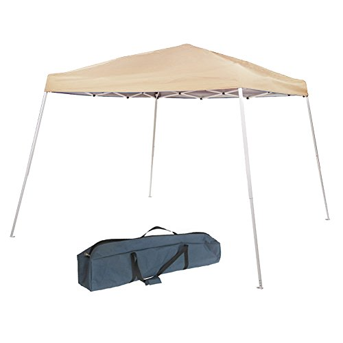 Abba Patio 8 x 8 ft Pop-Up Canopy Outdoor Slant Leg Instant Tent Folding Canopy with Carry Bag, Tan