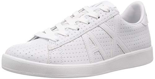 A|X Armani Exchange Men's Low Top Logo Sneaker, WHITE, 11 Medium ()