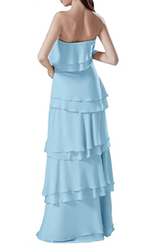 Blue prom Sky per Sunvary sera Light abiti da 52 senza abito spalline Cascading Ruffle TqwTF7z