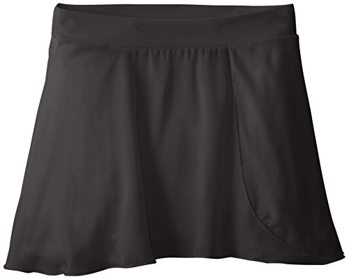 Eurotard Pull On Skirt - Capezio Big Girls' Tactel Collection Pull-On Skirt, Black, Medium (8-10)