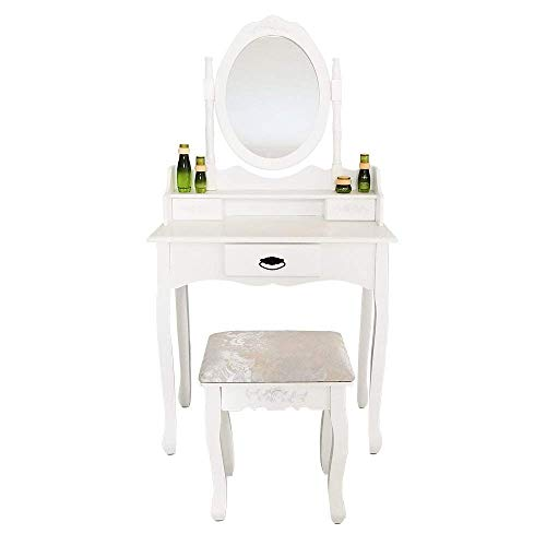 Vanity Table Set,Makeup Dressing Table with 3 Drawers Vanity ...