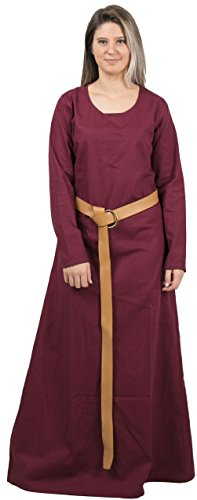 Red Fancy Dress Costume Ideas (LENA Medieval Costume Underdress by CALVINA COSTUMES -Made in TURKEY, XXL-Burg.)