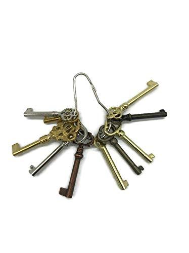 Skeleton Key Set Reproduction for Antique Furniture - Cabinet Doors, Grandfather Clocks, Dresser Drawers   KY-10S