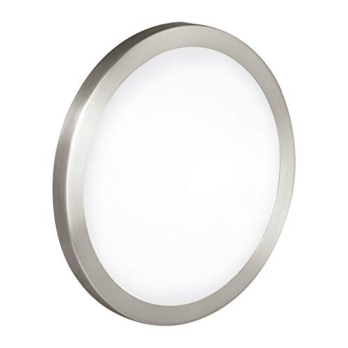 Eglo 87329A Arezzo Wall/Ceiling Light, Matte Nickel
