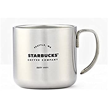 fb104caa177 Amazon.com | Starbucks Stainless Steel cup with wire handle (Black ...
