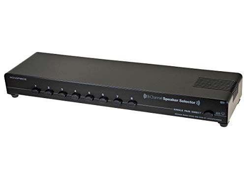 Monoprice 8-Channel Speaker Selector - Black With Impedance Matching Protection