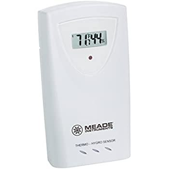 Meade Instruments TS33C-M Temperature and Humidity Sensor with LCD, White