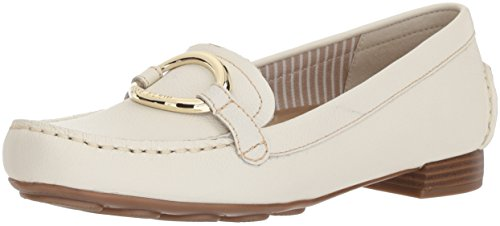 armonie Loafer, White Leather, 8 M US (Anne Klein Loafers)