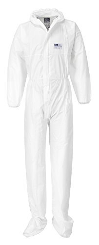 BizTex Microporous Coverall Overall with Boot Covers Type 6/5 Pack of 50 [L] by Portwest