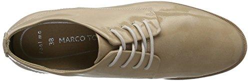 Marco Tozzi 23203, Zapatos de Cordones Oxford para Mujer Beige (Nude Comb 271)