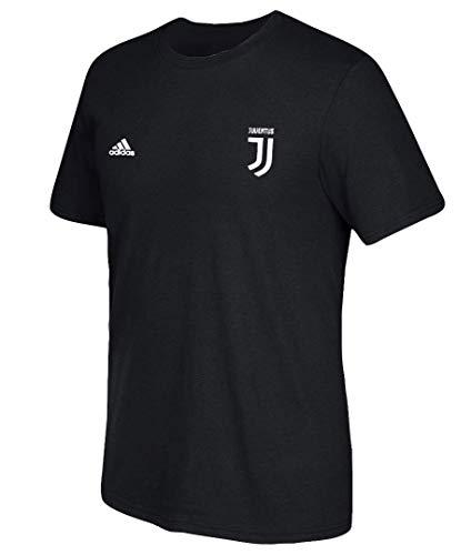 adidas Cristiano Ronaldo Juventus F.C. Men s Black Name and Number T-Shirt  Large 266476a62