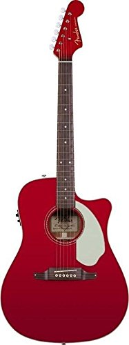 Fender Cut Outs (Fender Sonoran SCE Dreadnought Cutaway Acoustic-Electric Guitar with Fishman PreAmplifier and Built-In Tuner - Candy Apple Red with Matching Headstock)
