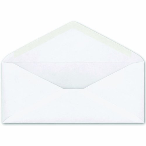 Ampad Business Envelopes, 10 Plain Envelope, 24 Pound Paper, White Wove, V-Flap Closure, 500 Per Box (73213) Esselte Corporation