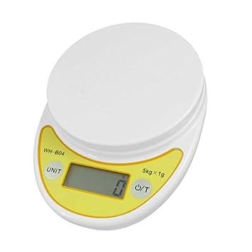 5 kg x 1g Cozinha Digital Eletrônica Balança Branco Amarelo ...