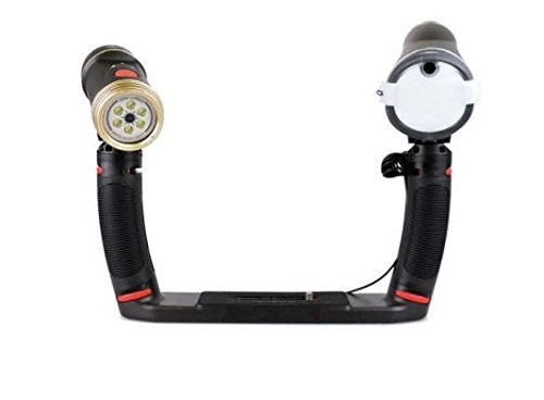 SeaLife SL964 Sea Dragon Duo 2300 UW Photo/Video LED Dive Light & Flash Set with Flex-Connect Dual Tray & Arm Grips by SeaLife