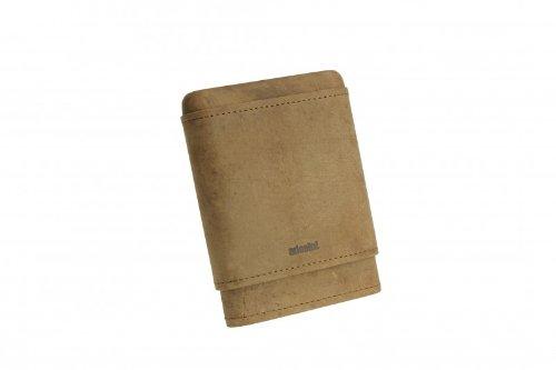 adorini cigar case real leather 3-5 cigars brown